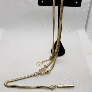 Kendra Scott Starla Long Y Necklace Drusy & Gold